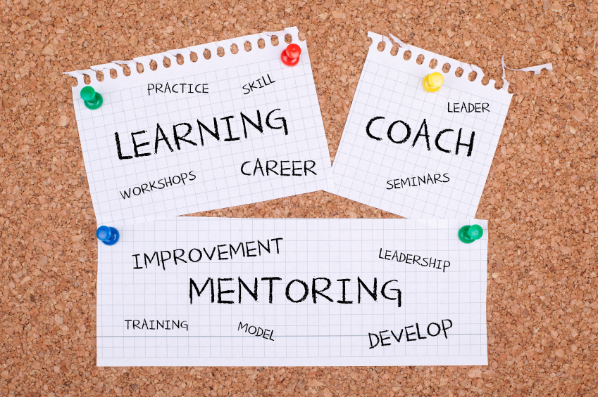 notes on corkboard learning coach mentoring